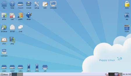 Puppy Linux 4.3 con JWM