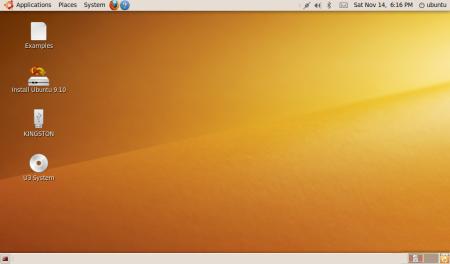 >Ubuntu 9.10 con Gnome