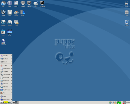 """Puppy Linux 5.5 """"Wary"""", """"Racy"""""""