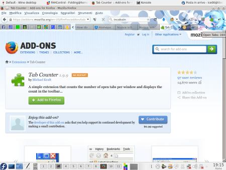 Tab aperte in Firefox