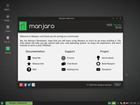 Manjaro Linux 0.8.12
