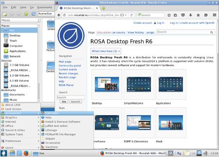 """ROSA R6 """"Desktop Fresh LXQt"""""""