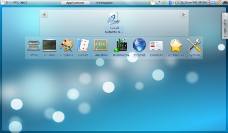 Kubuntu 9.10 Netbook Remix